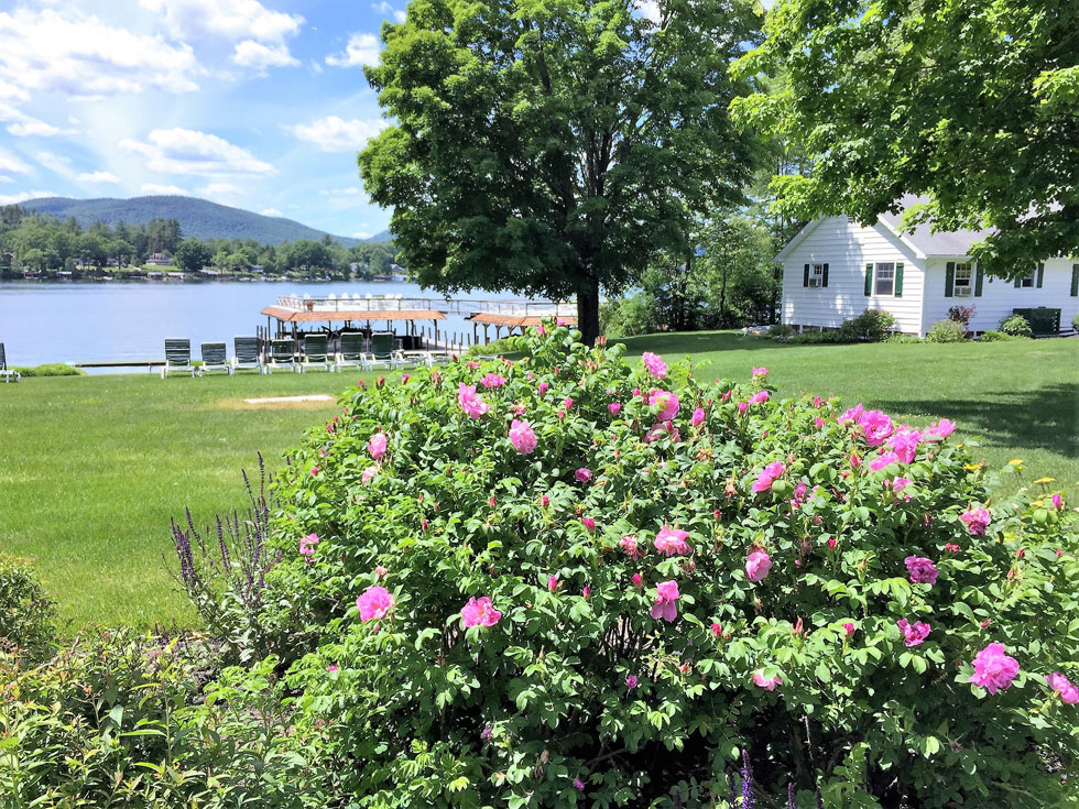 Lake George vacation cabin rentals in June at Takundewide Cottages on Lake George