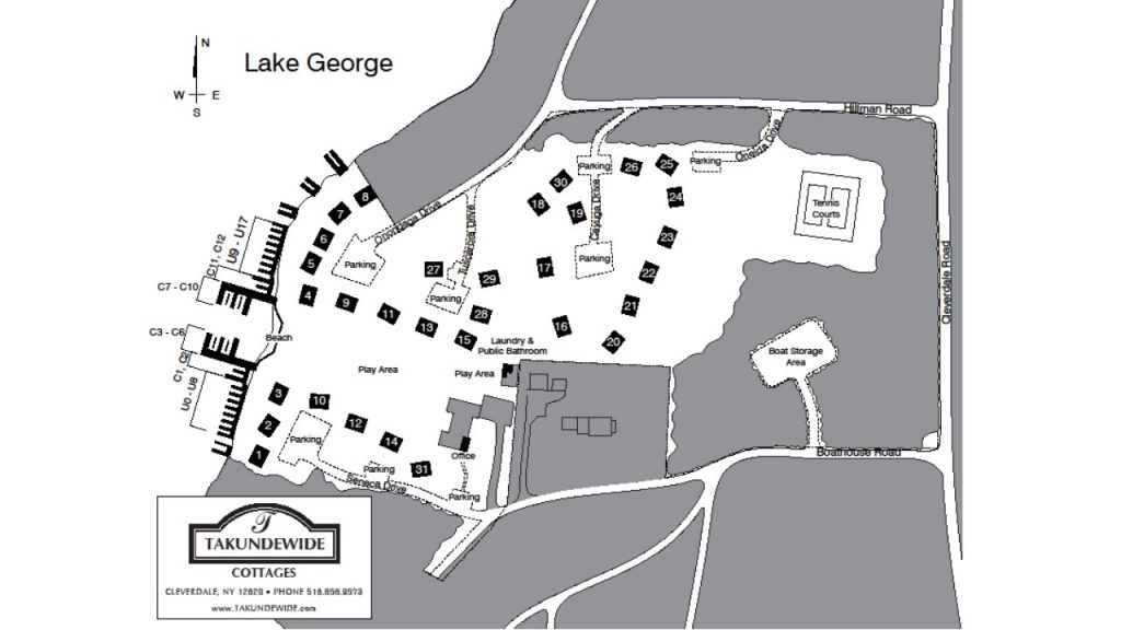 Takundewide Cottages Property Map