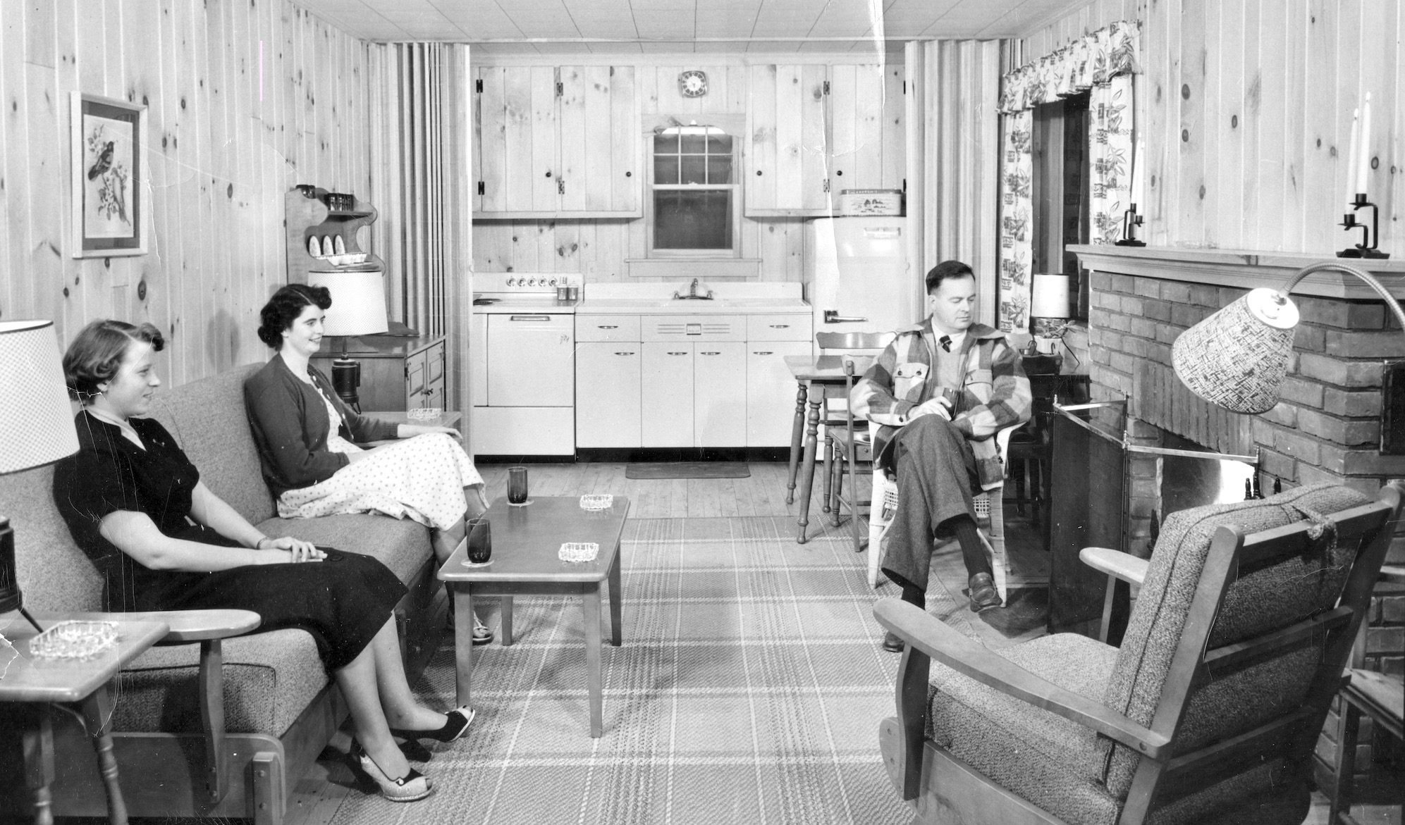 Takundewide Cottage interior, 1954