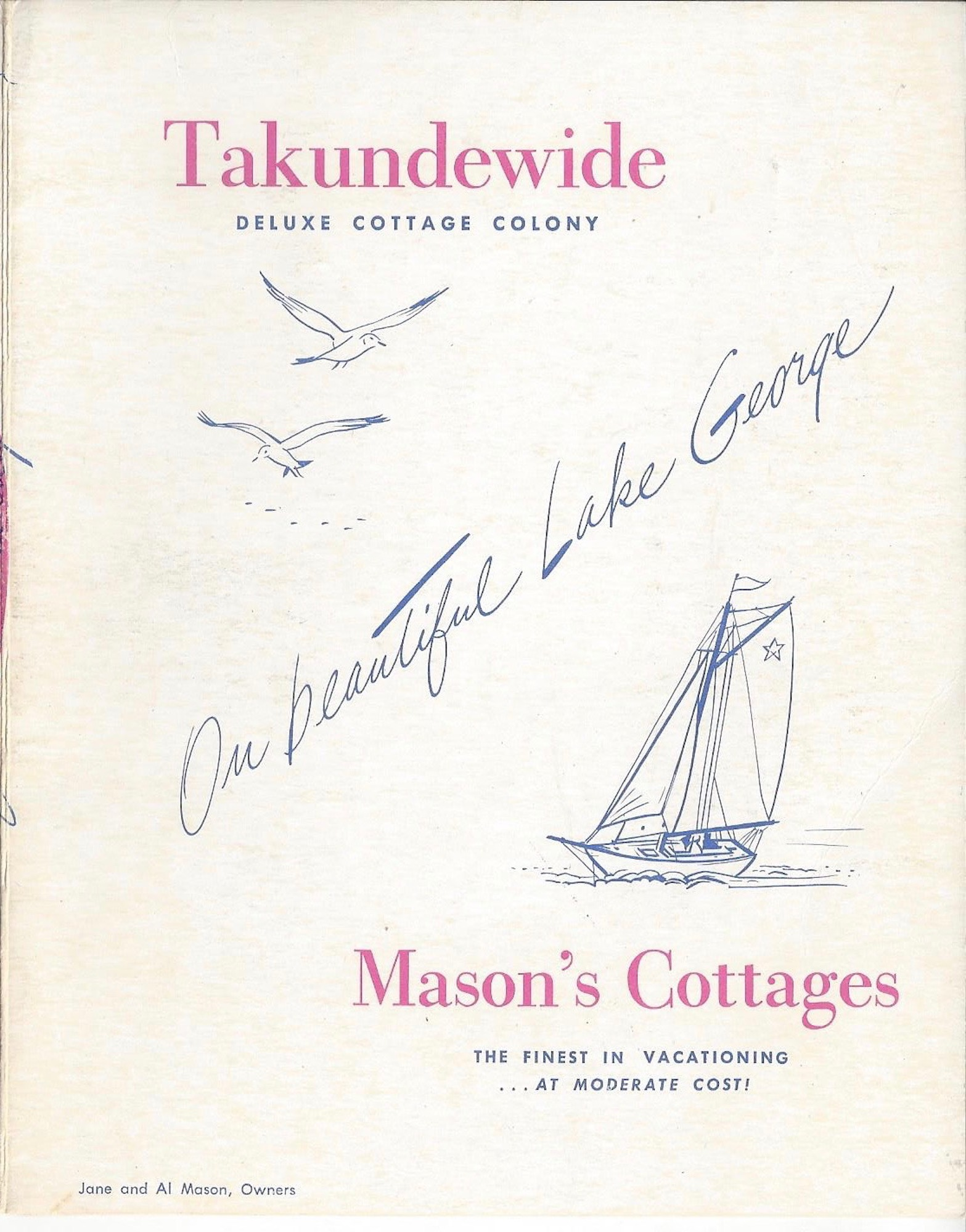 Takundewide and Mason's Cottages Brochure, Circa 1954