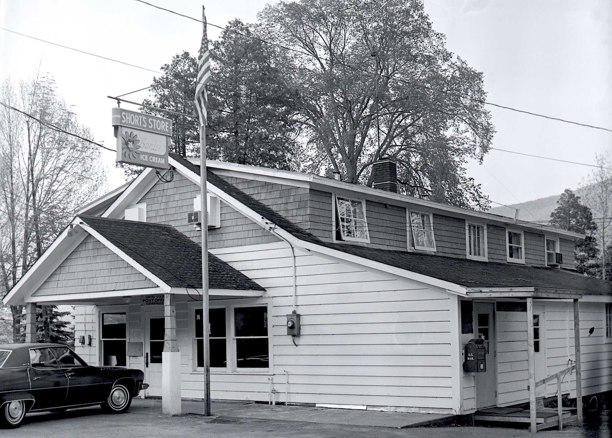 Short's store and post office, Cleverdale, NY  1973