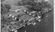 Aerial of Takundewide Cottages on Lake George in 1960