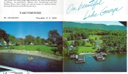 Takundewide on Lake George brochure, circa 1970