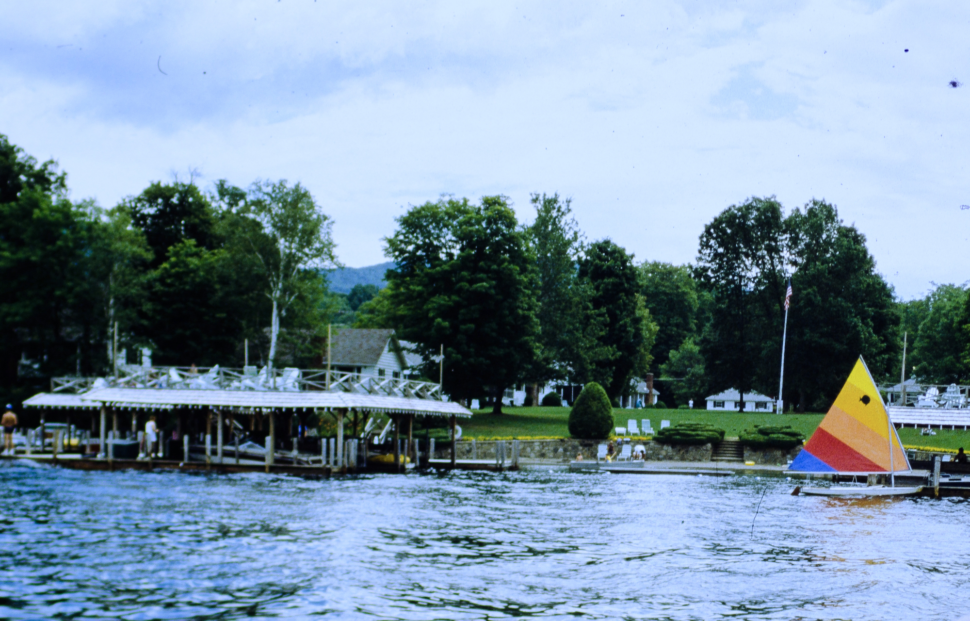 Takundewide beach from the lake in 1988