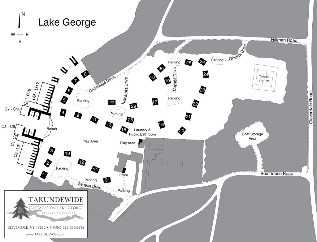Takundewide campground map