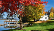 Takundewide Cottages on Lake George Autumn Foliage