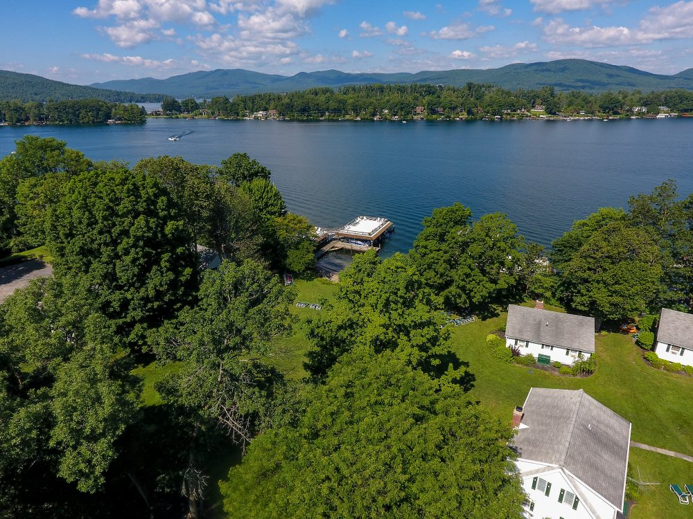 Lake George vacation cabin and dock rentals at Takundewide Cottages on Lake George
