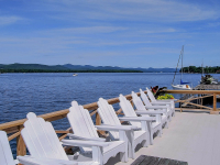 Protecting Lake George at Takundewide Cottages Adirondack chairs
