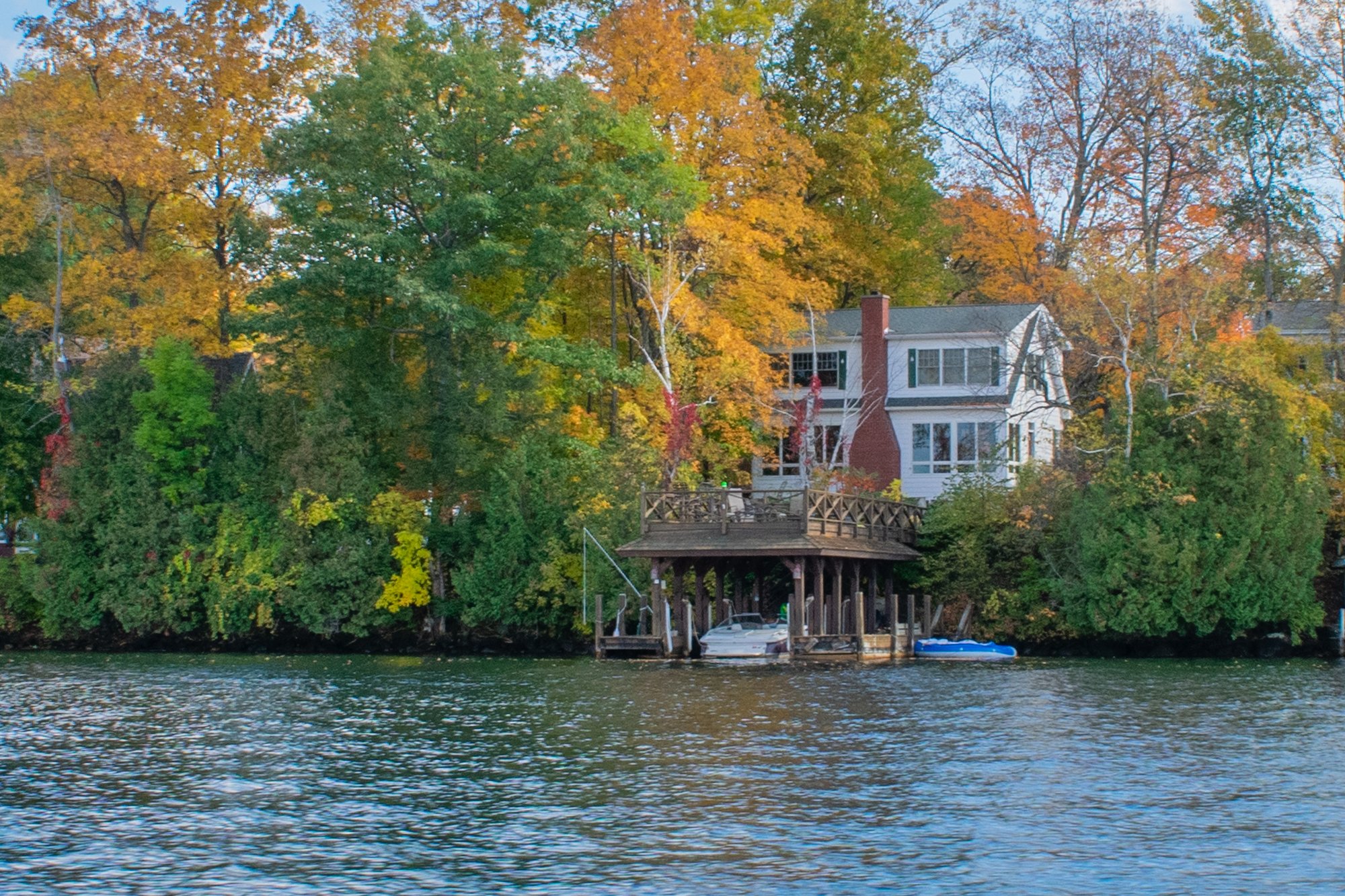 Lakefront Cottage #8 with private dock and sundeck at Takundewide Cottages on Lake George