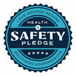Lake George vacation cabin rentals safety pledge at Takundewide Cottages