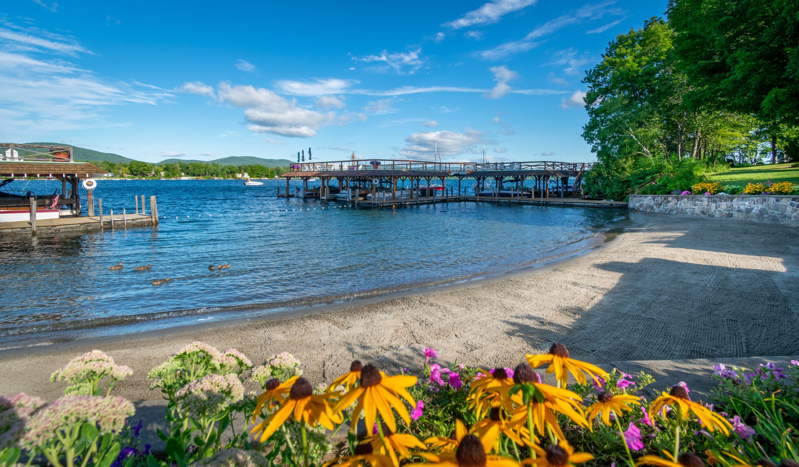 Lake George vacation rental cabins with 700 feet of lake front
