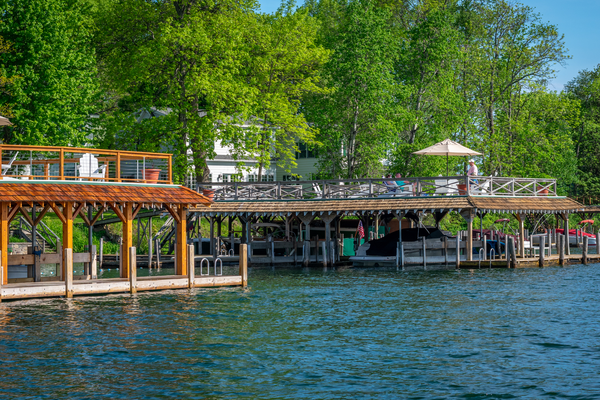Sundecks at Lake George vacation cabin rentals