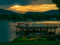 Takundewide Cottages on Lake George spectacular sunsets