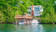 Takundewide Cottage #8 lakeside exterior with private dock and sundeck